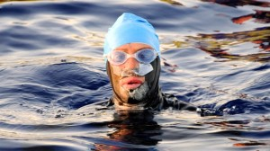 photo of Diana Nyad in water