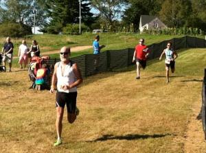 photo of Michael Daly finishing Pumpkinman 2012