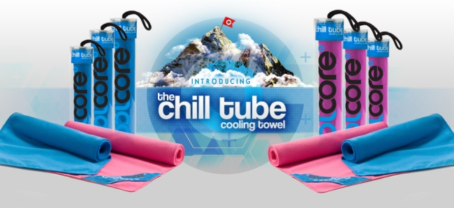 photo of chill tube towels full ad