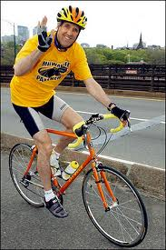 photo of Senator Kerry on bike
