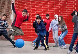 photo of kids at recess playing dodgeball