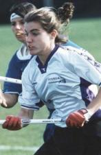 photo of Nicole Cuff playing lacrosse