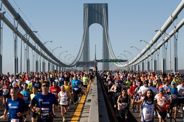 photo of NYC Marathon start on Staten Island