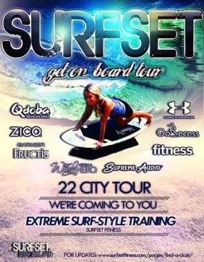 photo of surfset fitness tour poster
