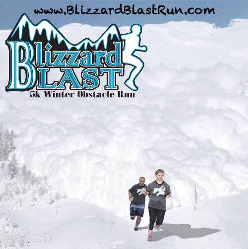 photo of blizzard blast race poster/logo